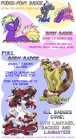 Pony Con 2013: Badge Examples by carnival