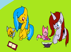 Books and Gummies AT by rosetheeevee12