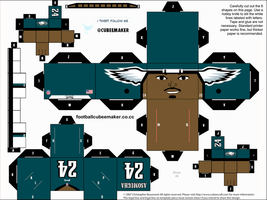 Nnamdi Asomugha Eagles Cubee by etchings13