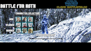 Star Wars Clone Battlefields, Character Selection by DatRets
