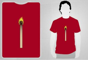 Flaming Match T-Shirt by reshad80