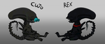 Xenomorph Pups_ultra rare!(all adopted) by 13OukaMocha13
