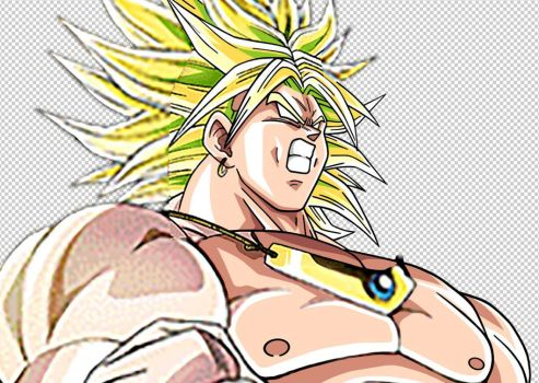 Work in progress: The Legendary Super Saiyan Broly by Dony910