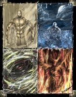 Elemental Golems by Genesisx3