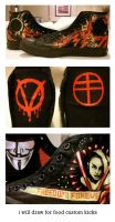 V for Vendetta Shoes by willdrawforfood