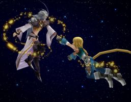 Fly with me - Kuja x Zidane by dumbapplesisakyll
