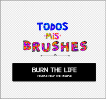 all my brushes | TODOS MIS BRUSHES AH by Burn-the-life