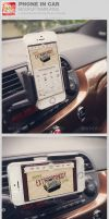 Smart Phone in Car Mockup Templates by loswl
