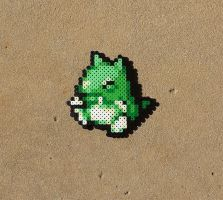 Substitute Doll - Pokemon Perler Bead Sprite by MaddogsCreations