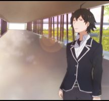 Hikigaya Hachiman by CrimsonMoonZ