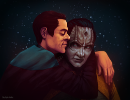 Garak/Bashir Cuddles by Sky-Byte-Haiku
