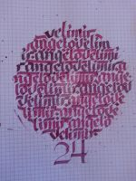 Velimir  Angelov Circle Calligram by Milenist