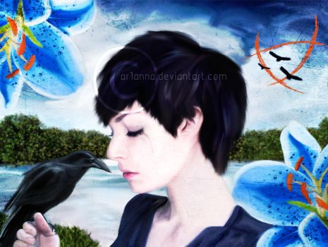 Blue Lily, Lily Blue by ar1anna