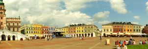 289 panorama of Zamosc by gacek