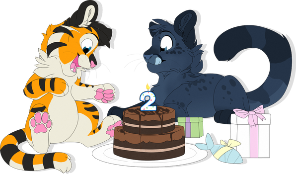 Birthday Kitties -CM- by MBPanther