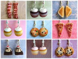 Food Earrings 2013 by LittleSweetDreams