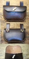 Medieval Leather Belt Pouch 2 by RuehlLeatherWorks