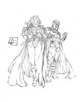 Scarlet and Magneto by marvelmania