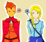 T/O FlamePrince and Fionna by The-Human-Girl