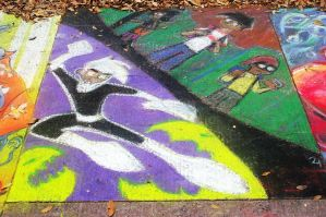 Danny Phantom Sidewalk Art by whitegryphon