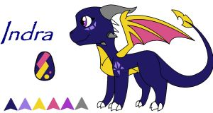 Daughter of Spyro and Cynder by Sahirathedragoness