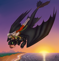 Irie and Toothless by VixenDra