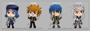 Fairy Tail Chibis 2da parte by sombraescarlata