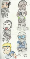 GOW Delta squad Chibis by KittyGoku
