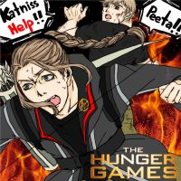 Katniss [Male Ver.] X Peeta The Hunger Games by Y-diculous