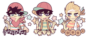 MOTHER: Ninten, Ness and Lucas by nekozneko
