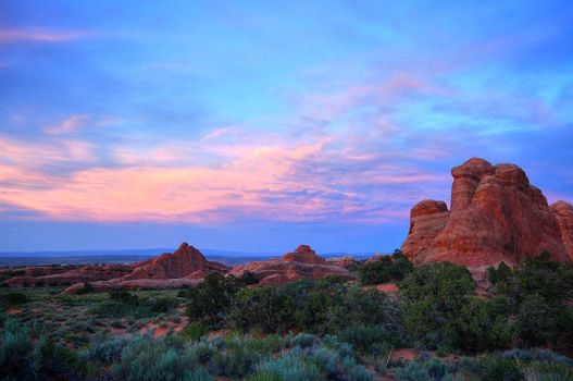 Arches Sunset 01 by ubu
