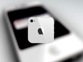 White iPhone 4 icon by nepst3r