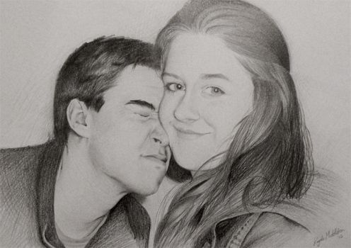 Paddy and Ais Portrait by inkfun