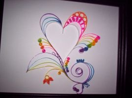 Rainbow quilling by ThirteenthMuse
