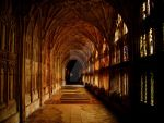 Gloucester Cathedral Corridor by mr-clandestine
