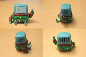 A Holly Jolly BMO (body shot) by lonelysouthpaw