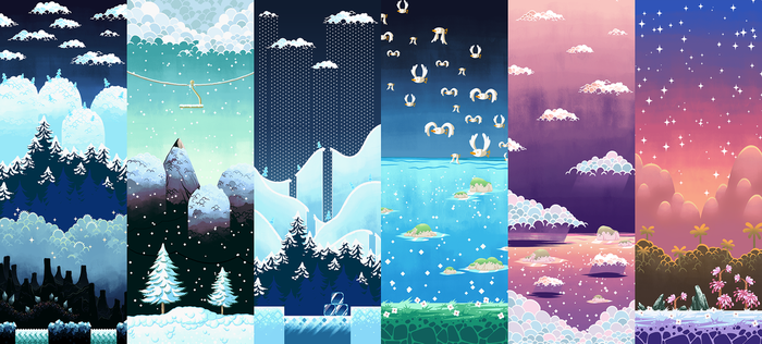Yoshi's Island World 5 - Prints Available by Gryphon-Shifter