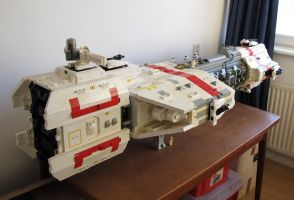 LEGO starship by Bocma