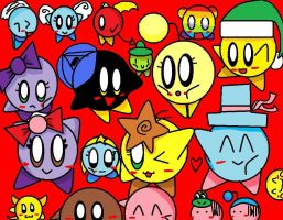 400 Pageviews Kirby OC Collage by sangkirb14