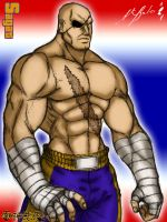Sagat by TheALVINtaker