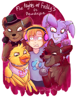 Five Nights at Freddy's ft. Pewdiepie by CascadingSerenity