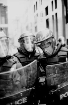 Riot Police Requiem by sting-ray