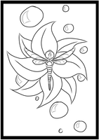 Dragonfly Coloring page 1/5 by holyhell111