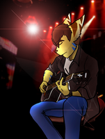 Wolf on stage by Varg22
