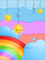 Kawaii - Colorful sky by linkitty