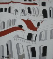 (white) gouache on cardboard  P.S. Effect by Boias