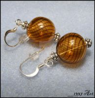 Autumn Swirl Earrings by 1337-Art