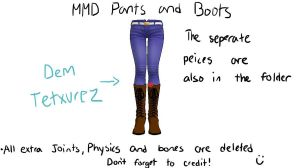 MMD jeans and boots download by Vocaloid98