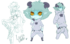 Luca sketches by Jellygay