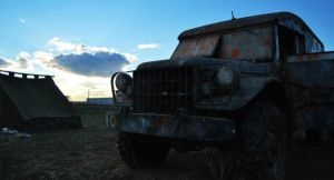 old army car by spi8as